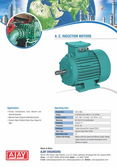 A. C. INDUCTION MOTORS Brochure